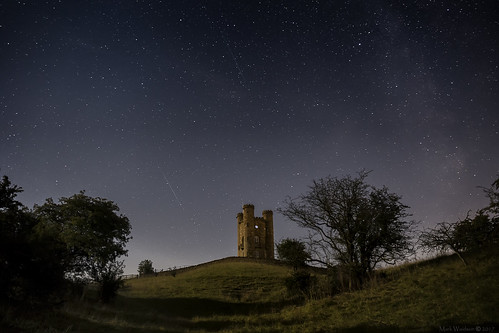 Perseids and the Milky Way