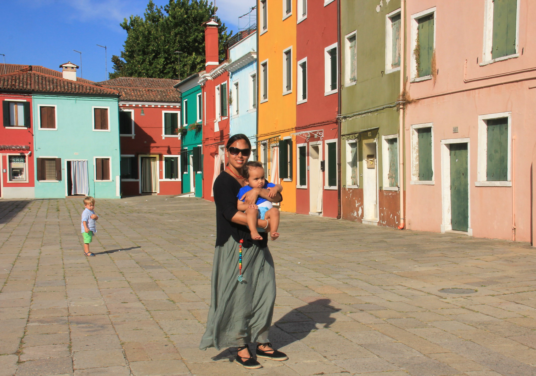 Burano village near Venice is known for colourful houses
