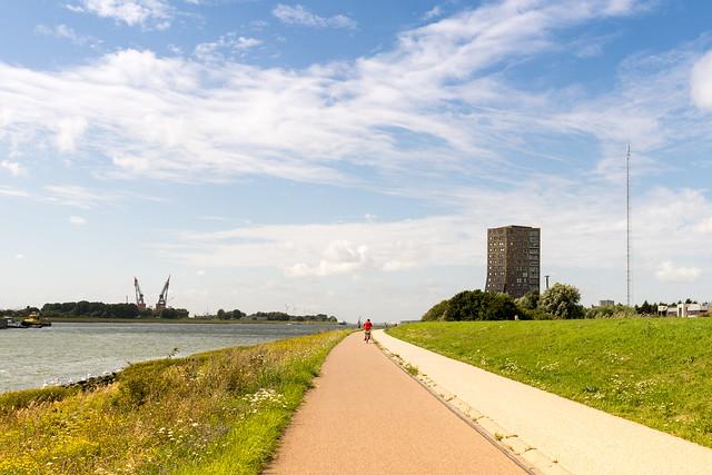 Rhein-Radweg bei Rotterdam