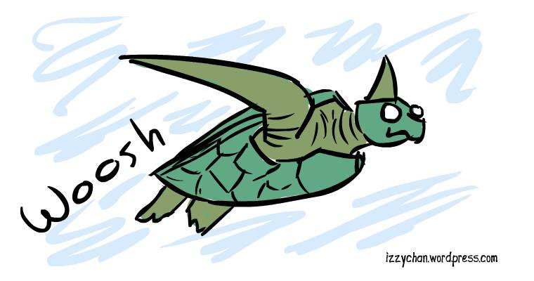 sea turtle swimming green