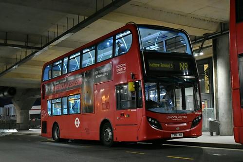 *ODD* RATP London United: ADE40410   YX12FNR    N9: Aldwych - Heathrow Terminal 5