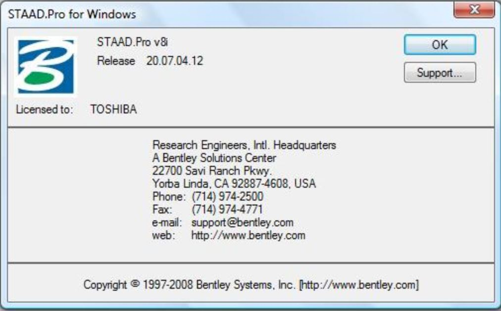 download Bentley Staad Pro v8i x86+x64 full license 100% working