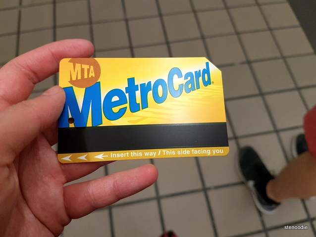 MetroCard in New York subway
