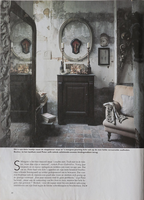 Peter Gabrielse, le Chateau in Dutch magazine around 2003 (?)