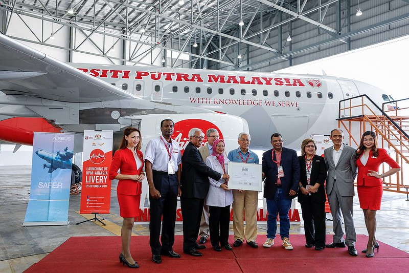 The Launching Of Upm Livery On Airasia Aircraft