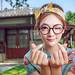 看到戴眼鏡的妳 by 阿乃