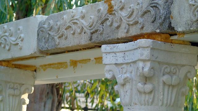 Αναστύλωση στον κήπο της Δημόσιας Βιβλιοθήκης Λευκάδας (παλιός Ναός Αϊ Γιάννη)