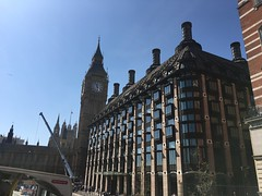 The Elizabeth Tower and Portcullis House