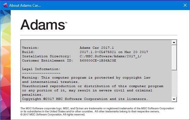 download MSC Adams 2017.1 win64 full license 100% working forever