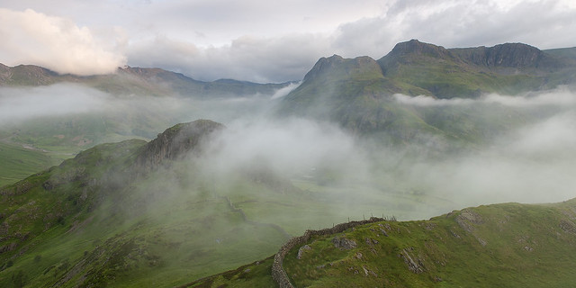 Misty Panorama from Lingmoor Fell