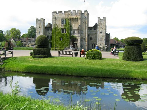 reflection of hever castle