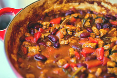 Chili con carne beans and peppers