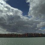 Stormy weather over Preston Docks