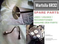 WArtsila 6R32 marine engine, Nozzle, Spare Parts, Cylinder heads, Bearing, Connecting rods, Valve, used, recondition spare parts for Wartsila