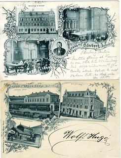 Postcards of Oderburg Bahnhof, Austria. [Bohumin]  1899, 1902
