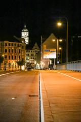 Stadt Meißen bei Nacht