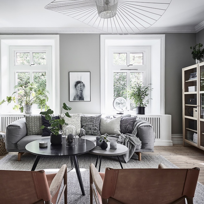 A Lovely Swedish Home With Wood Floors