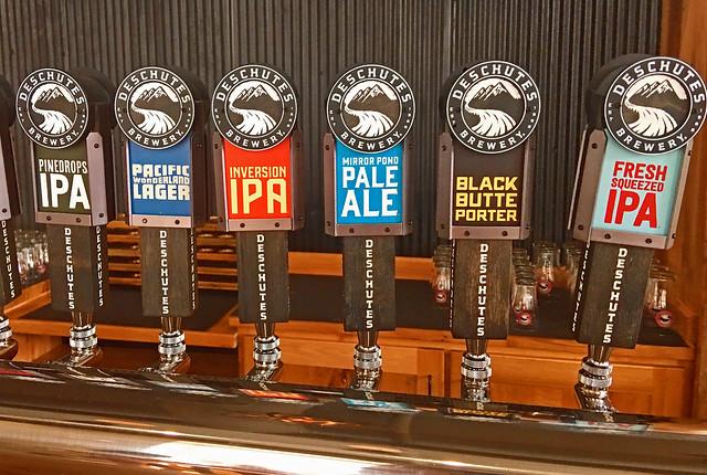 Deschutes Brewery Tasting Room - Tap Handles
