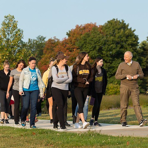 President Heckler is ready for Exercise is Medicine Week! Are you? This morning President Heckler helped kick off Exercise is Medicine Week with a morning walk to promote efforts in combatting today's most common chronic conditions through physical activi