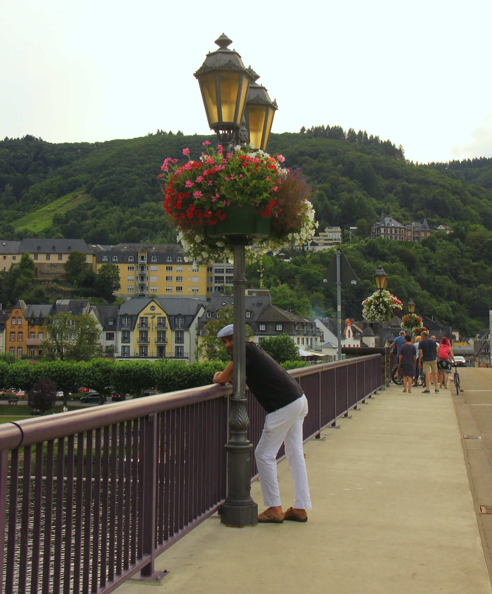 The lovely bridge across the Moselle river in Cochem