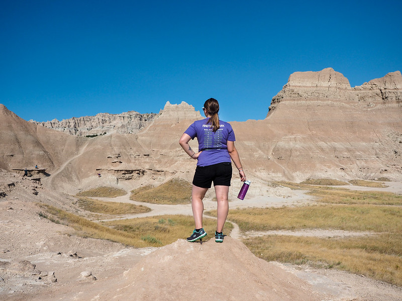 Amanda in Badlands National Park