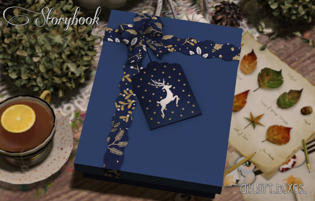 :Storybook: diy gift box [reindeer]
