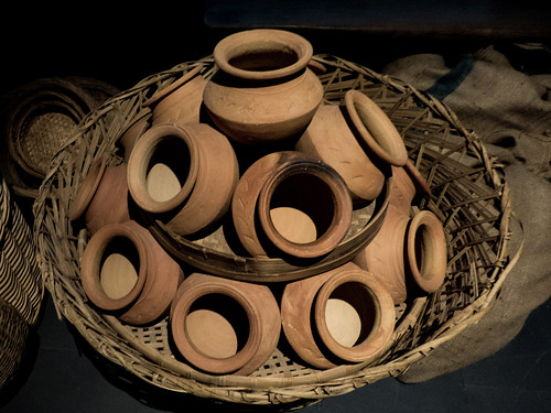 A Clay Pot Display
