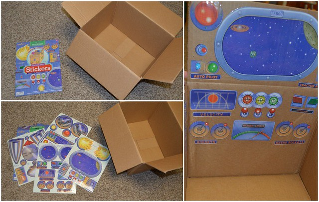 eeBoo Spaceship Pretend Play Stickers on the SIMPLE moms