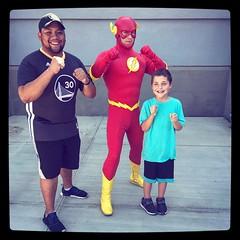 My Babygirl @kpapii_  boyfriend @reggiefoanything  and Jayden getting pumped with their favorite #dcheros #theflash #savemetropolis #momlife #funatthemountain #playinghooky #adventures2017 #familyfirst #makingmemories #superherogoals #lovemyhumans #lilbro