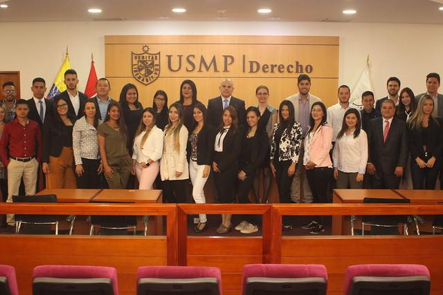 Facultad de Derecho de la USMP desarrolla I Jornada de la Escuela Internacional de Derecho USMP