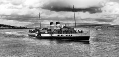 Scotland West Highlands Argyll the paddle steamer Waverley arriving at Dunoon 15 August 2017 by Anne MacKay