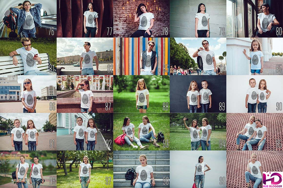 100 Mẫu mockup áo thun nam và nữ