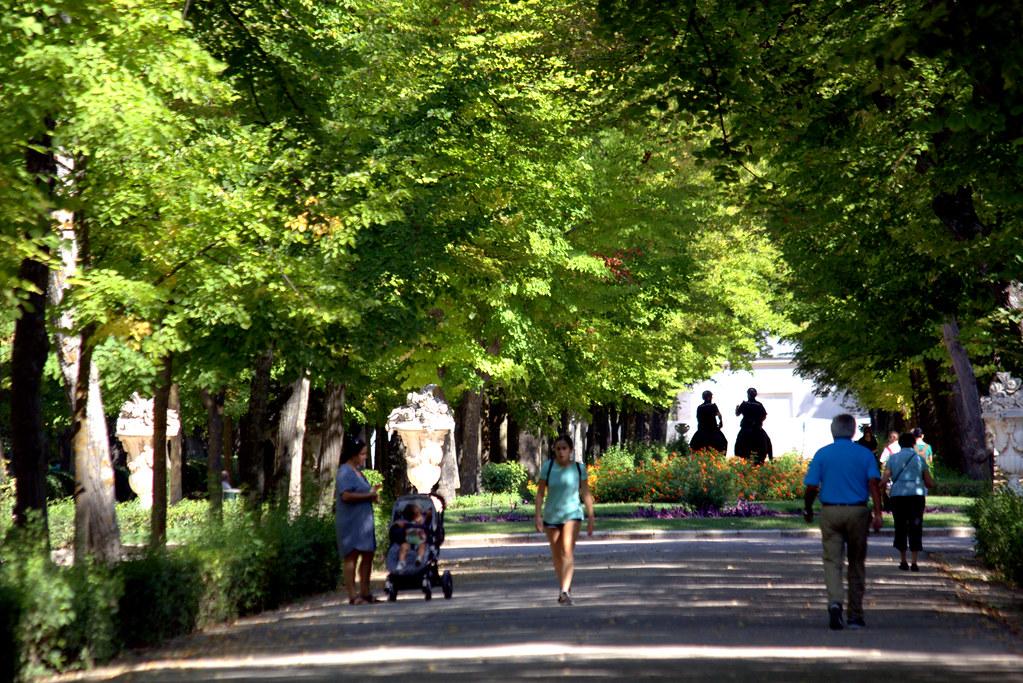 una mañana de septiembre en los Jardines del Príncipe de Aranjuez