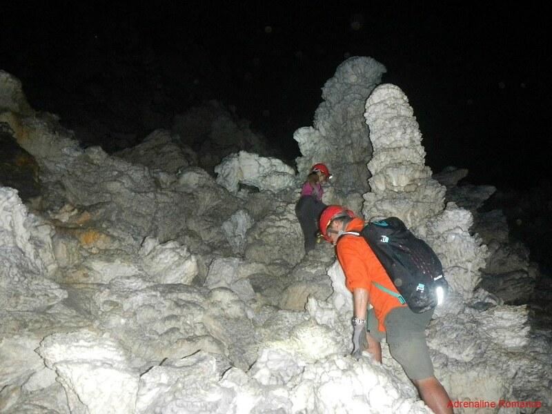 Climbing the rockfall