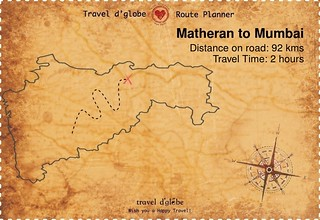 Map from Matheran to Mumbai