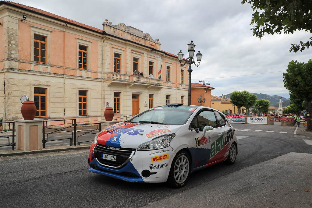 31  BROZ Dominik (CZE) TESINSKY Petr (CZE) Peugeot 208 R2 action during the 2017 European Rally Championship ERC Rally di Roma Capitale,  from september 15 to 17 , at Fiuggi, Italia - Photo Jorge Cunha / DPPI