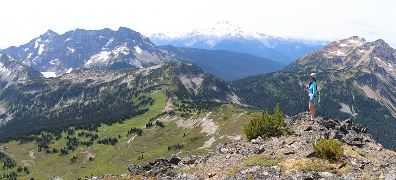 Glacier Peak from high on the southwest ridge of Cloudy Peak