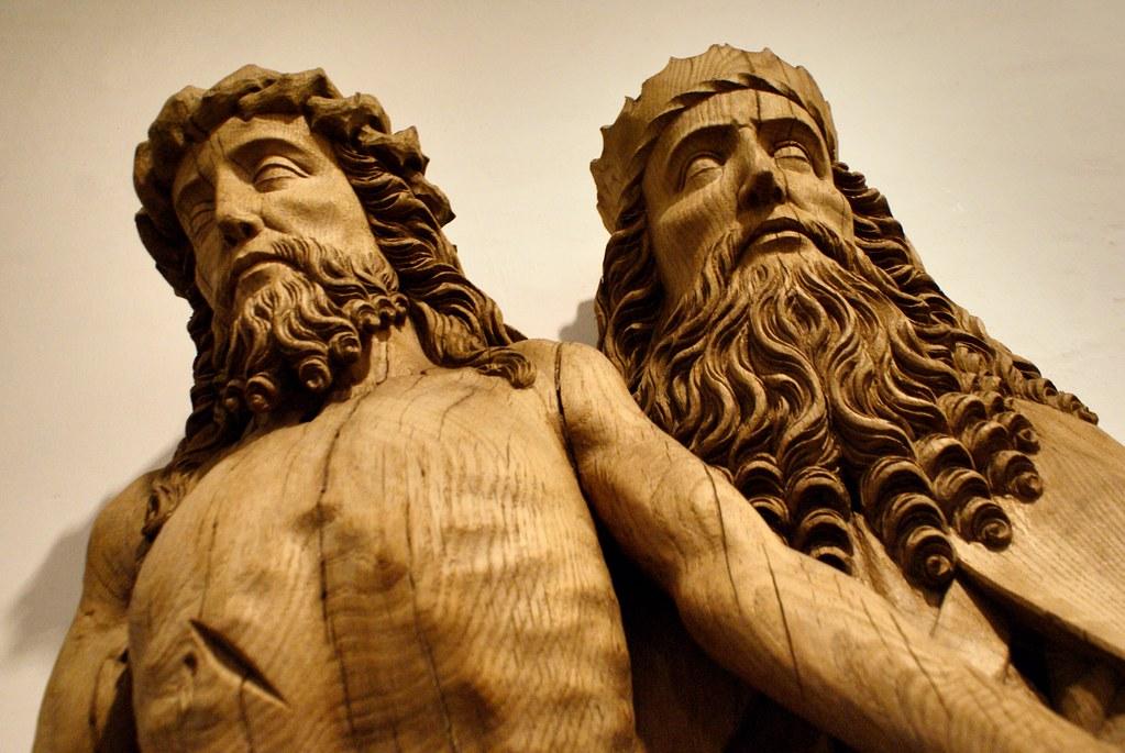 Sculpture gothique en bois du Musée National à Copenhague.
