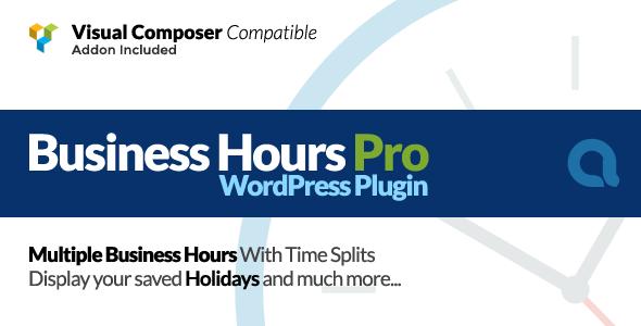 Business Hours Pro WordPress Plugin v4.3.1