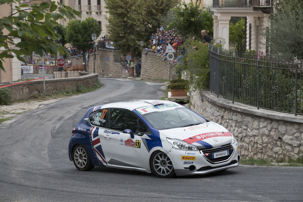 37 MUNNINGS Catie (GBR) STEIN Anne Katharina (AUT) Peugeot 208 R2 action during the 2017 European Rally Championship ERC Rally di Roma Capitale,  from september 15 to 17 , at Fiuggi, Italia - Photo Gregory Lenormand / DPPI