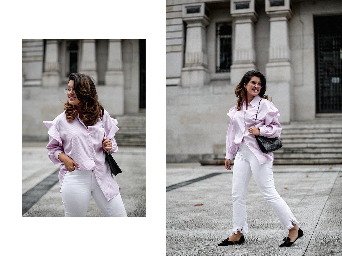 camisa rayas rosa dias como estos bailarinas lazo negras hm myblueberrynightsblog12