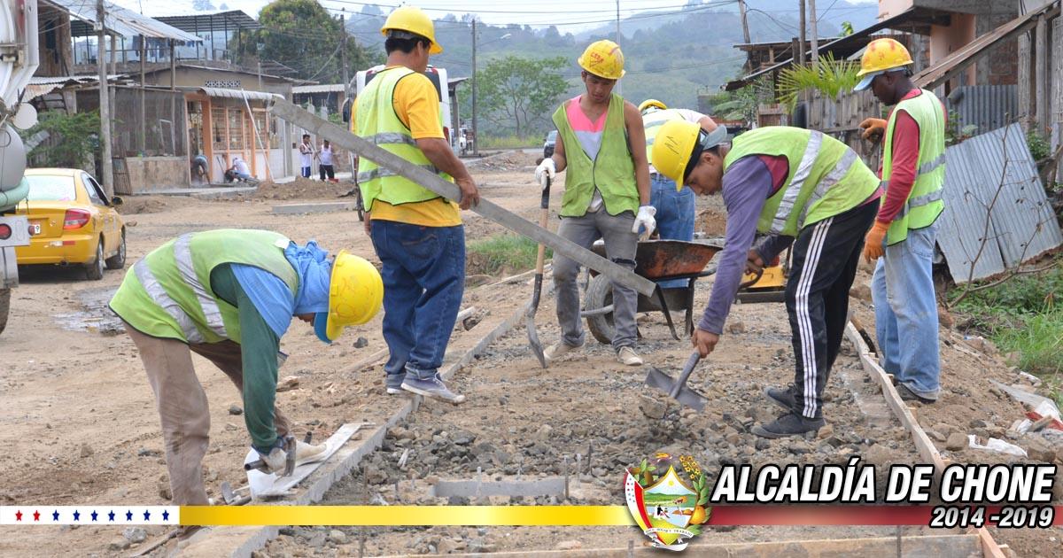 Continúan trabajos en la calle Ítalo Colamarco y Salustio Giler