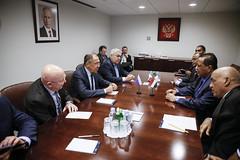 С.В.Лавров и И.Гандур | Sergey Lavrov & Ibrahim Ghandour