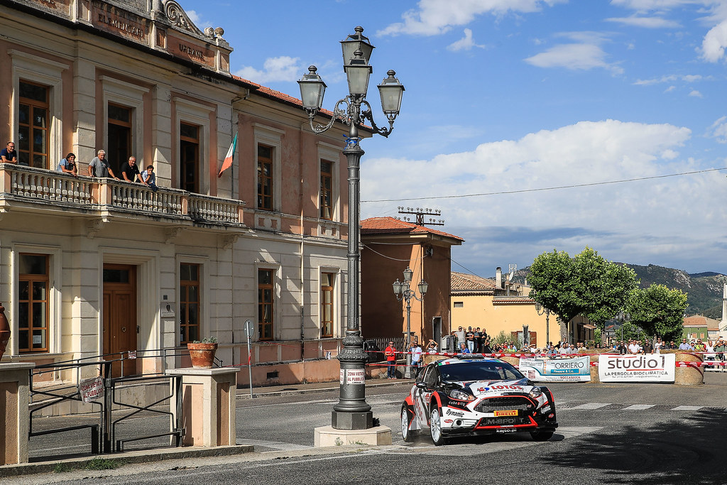 01 KAJETANOWICZ Kajetan (POL) BARAN Jaroslaw (POL) Ford Fiesta R5 action during the 2017 European Rally Championship ERC Rally di Roma Capitale,  from september 15 to 17 , at Fiuggi, Italia - Photo Jorge Cunha / DPPI