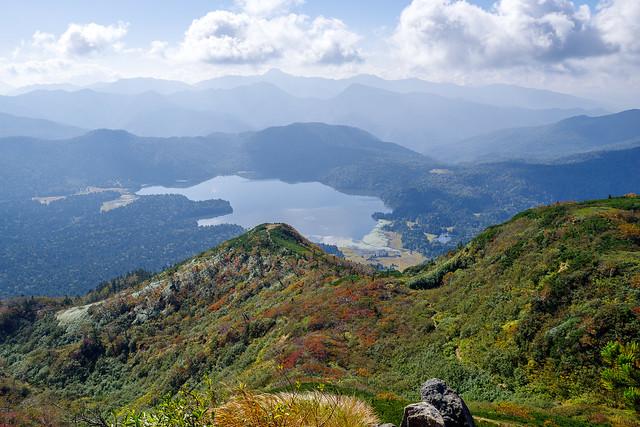 ミノブチ岳・尾瀬沼と日光の山々@俎嵓