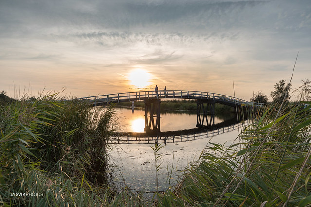 Sunset Zijdebrug Alblasserwaard
