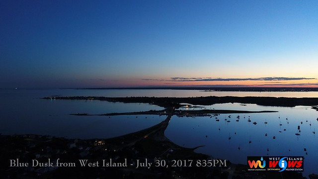 BLUE DUSK from WEST ISLAND