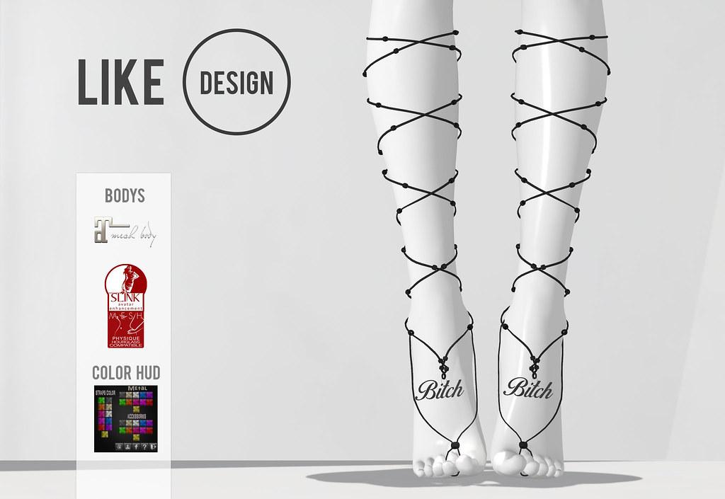 .: LIKE DESIGN :. Highfeet Anklet V3 - SecondLifeHub.com