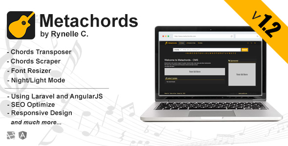 Metachords CMS v1.2 : Chords & Tabs