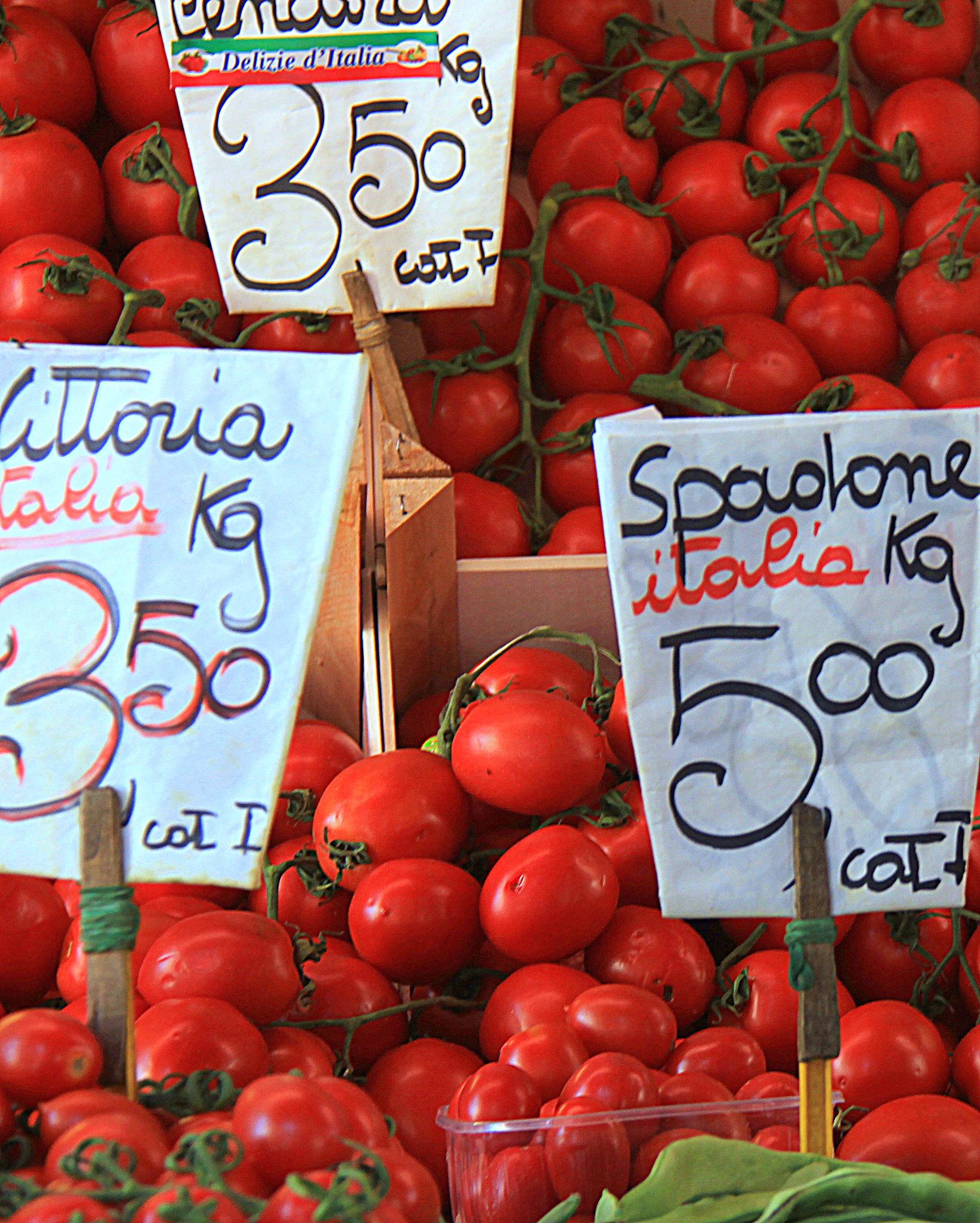 Rialto Markets in Venice are held near the famous Rialto Bridge